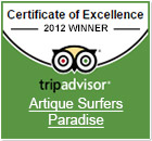 Artique Tripavisor Excellence 2012